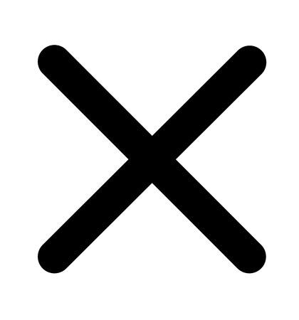 Cross icon no symbol   illustration