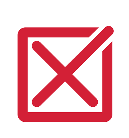 No check marks vector illustration red cross mark on white background Illustration