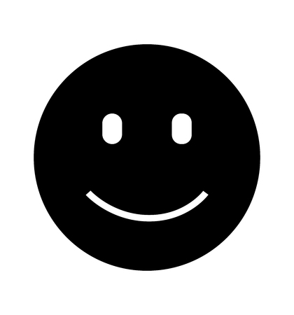 Smile icon flat vector isolated on white background  イラスト・ベクター素材