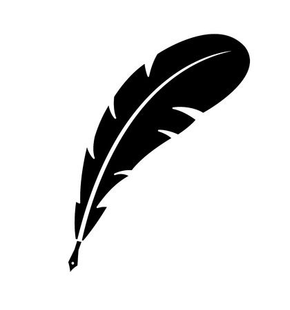 Feather pen vector icon isolated on white background eps 10