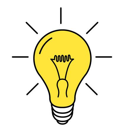 L'icône de la ligne de la lampe vecteur sur fond blanc vector illustration eps 10