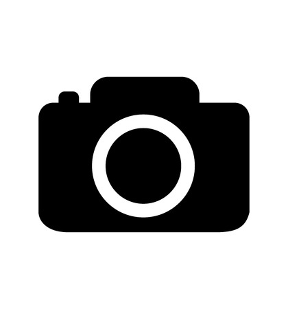 Camera icon black flat isolated on white background camera symbol isolated on white eps 10