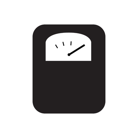 Body weight scale icon silhouette vector illustration Illustration