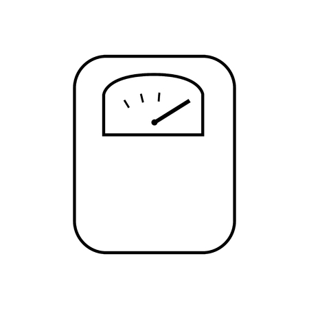 Body weight scale line icon line vector illustration Ilustração