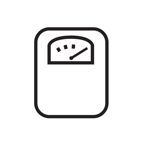 Body weight scale line icon line vector illustration Illustration