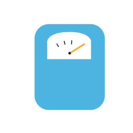 Body weight scale icon flat vector illustration isolated