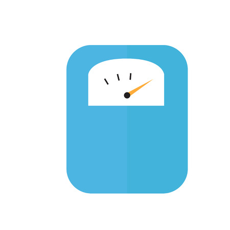 Body weight scale icon flat vector illustration isolated Stock Vector - 124617105