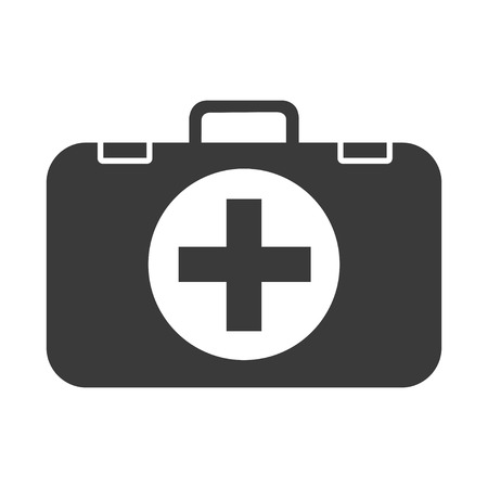 First aid kit icon illustration sign vector isolated on white Illustration
