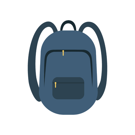 Backpack icon flat vector illustration isolated for web and mobile eps 10