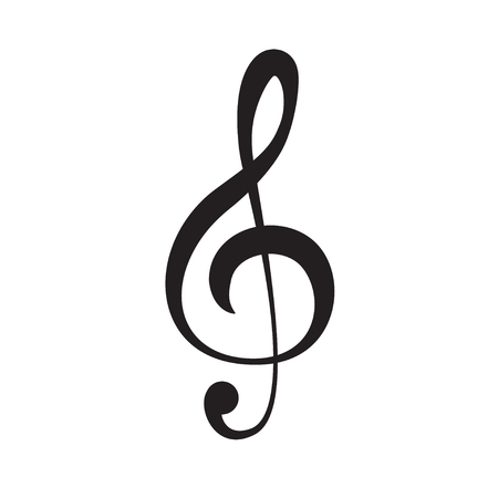Treble clef icon isolated on white vector eps 10 music