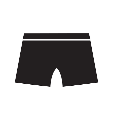 Underwear vector icon silhouette vector illustration isolated on white