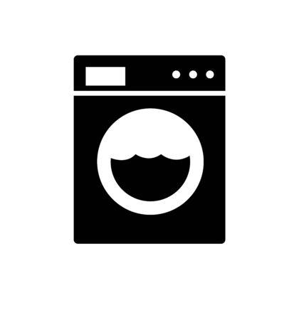 Washing machine icon appliances symbol flat isolated