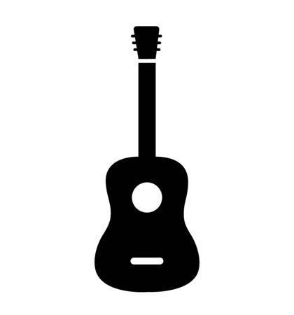 Vector Acoustic Guitar Icon isolated on white eps 10 Illustration