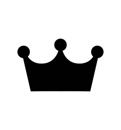 Crown icon vector isolated on white for web site design, app