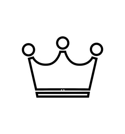 Simple crown line icon vector isolated on white eps 10