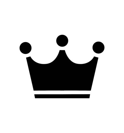Simple crown flat icon vector isolated