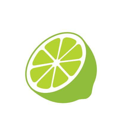 Lime icon citruses isolated on white background vector