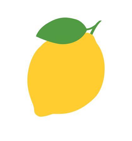 Lemon vector icon illustration isolated on white background tree vector illustration