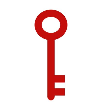 Key icon isolated on white vector flat