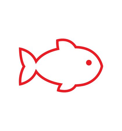 fish line icon vector illustration eps 10 isolated