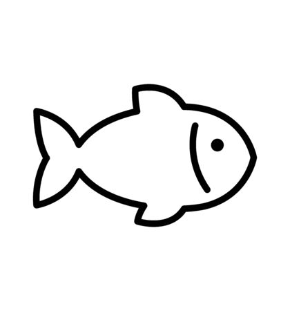 fish line icon vector illustration Vettoriali