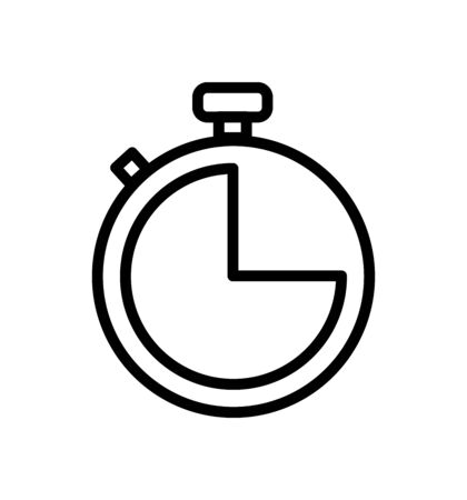 Stopwatch stop watch timer icon for apps and websites Illusztráció