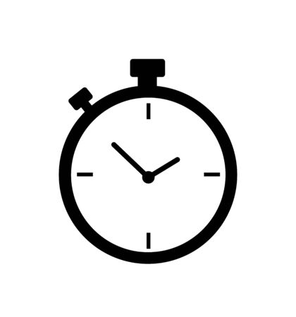 Stopwatch icon timer vector isolated on white Illusztráció