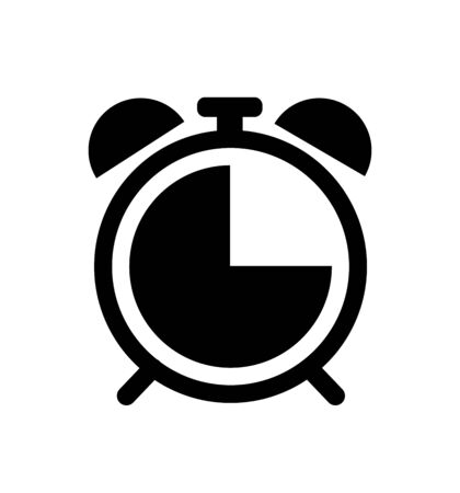 Alarm clock icon isolated on white background time sign vector