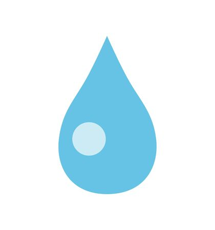 Water Drop icon vector isolated on white 矢量图像