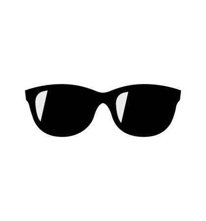 Black Sunglasses vector icon isolated on white background