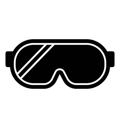 Safety glasses icon vector simple line illustration safety glasses design