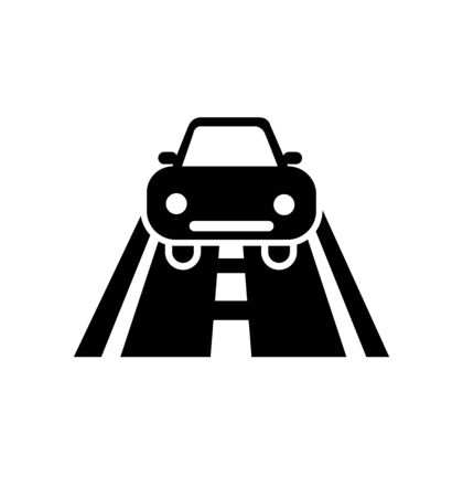 Road car icon sign vector Illustration isolated on white 向量圖像