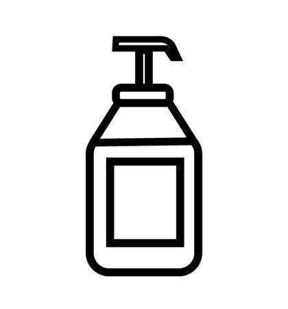 Antiseptic line icon vector icon isolated on white background antiseptic 向量圖像