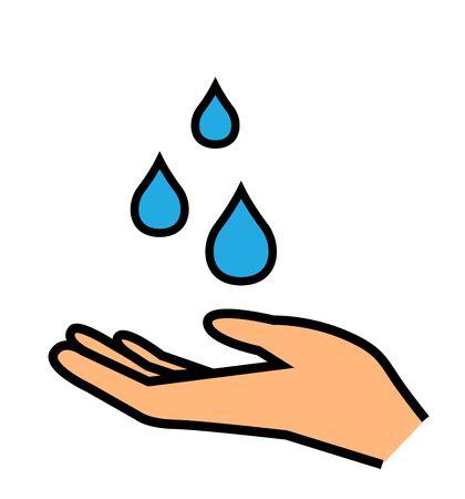 Hand washing vector icon hygiene symbol on white isolated background hygiene icons 向量圖像
