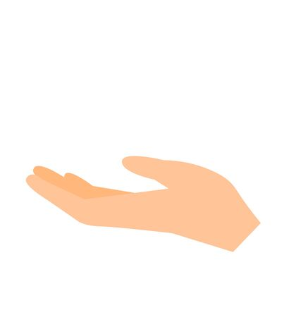 Outstretched hand vector illustration flat design isolated on white background gesture hands palms demonstrations 向量圖像