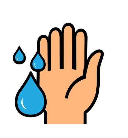 Washing hands vector icon sign wash hands symbol illustration