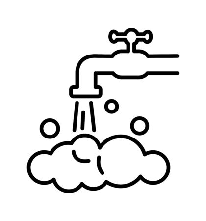 The tap water icon water symbol flat vector illustration