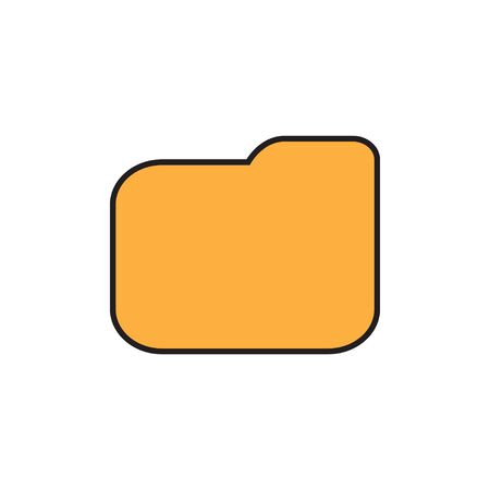 Folder icon flat isolated on white background for web site design vector illustration EPS