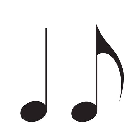 Music note icon song melody vector flat isolated on white background for your web site design 向量圖像