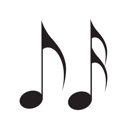 Music note icon song melody vector flat isolated on white background