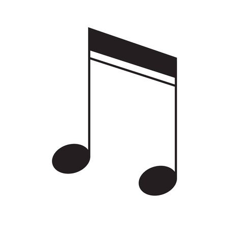 Music note icon vector flat isolated on white background for your web site design 向量圖像