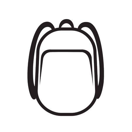 Backpack icon symbol design vector illustration 向量圖像