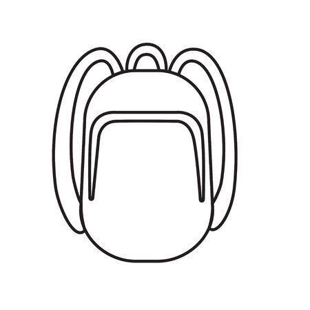 Backpack icon stroke symbol design vector illustration, outline for web site design EPS 10