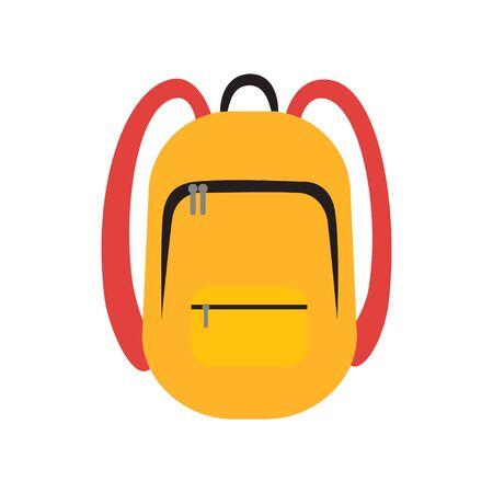 School Backpack icon flat vector illustration isolated 向量圖像