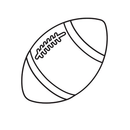 Rugby football ball line icon isolated on a white 向量圖像
