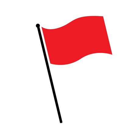 flag red icon sign vector isolated on white