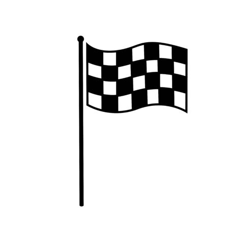 racing flag icon isolated flat web mobile icon vector on white background
