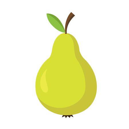 Pear fruit icon image vector illustration flat design 向量圖像