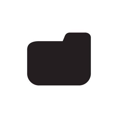 Folder icon black silhouette isolated on white background for web site design vector illustration EPS