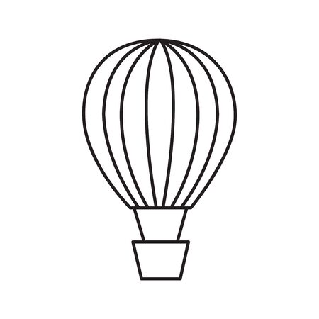 hot air balloon outline icon vector isolated
